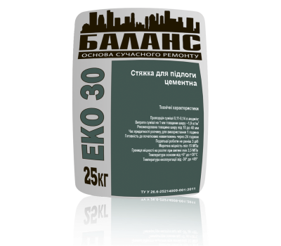 ЕКО 30 Стяжка цементна для підлоги 25 кг