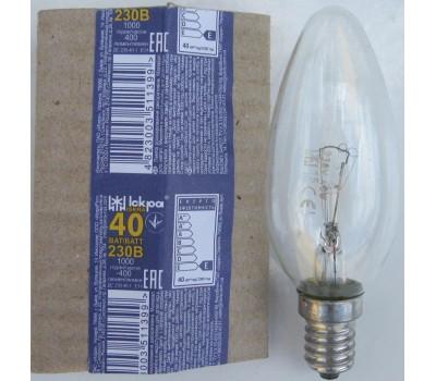 Лампа накаливания Искра  40Вт Е14  Свеча