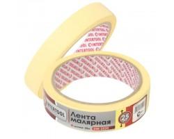 Стрічка малярна  25мм, 20м, жовта DM-2520