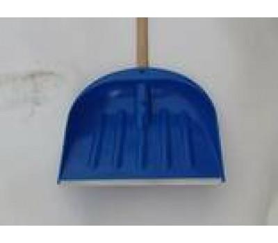Лопата снігова темно-синя з держаком