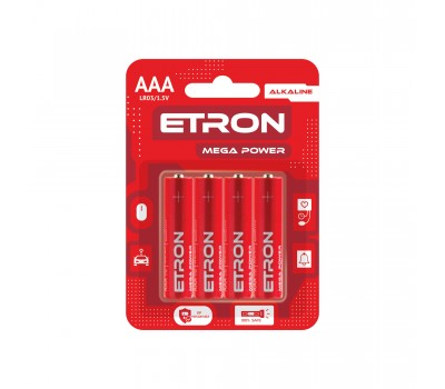 Батарейка лужна ETRON LR03-AAA-C8
