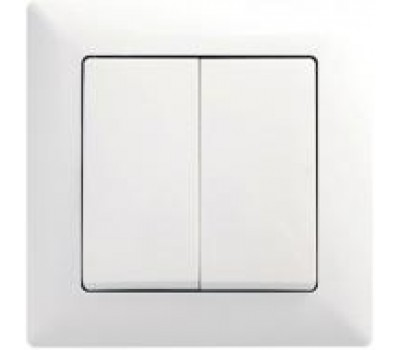 Вимикач VISAGE 2-кл білий 0511103MS