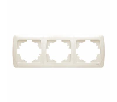 Рамка VIKO 3-я белая 1003 верт