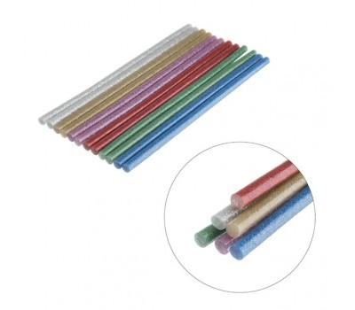 Клейові стрижні 7,4*200 кольорові перламутрові  RT-1034