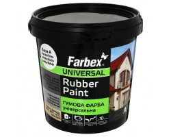 Краска резиновая біла Farbex-6 кг