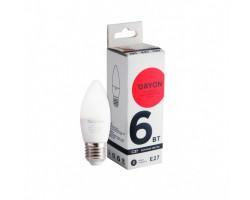 Лампа светодиодная C37 6w 4100K E27 DAYON 1712-EMT