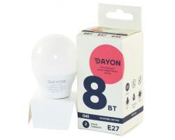 Лампа светодиодная G45 8w 4100K E27 DAYON 1732-EMT