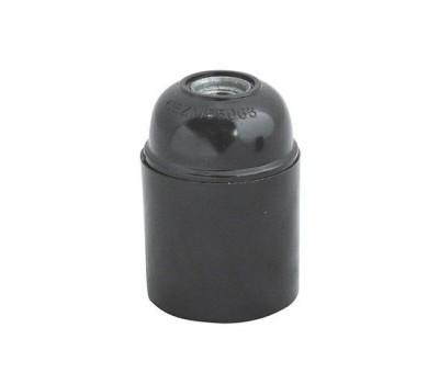 Патрон Е27 чорний трехконтактний