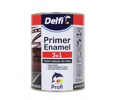 Грунт-емаль по іржі 3 в 1, біла Delfi 0.9 кг
