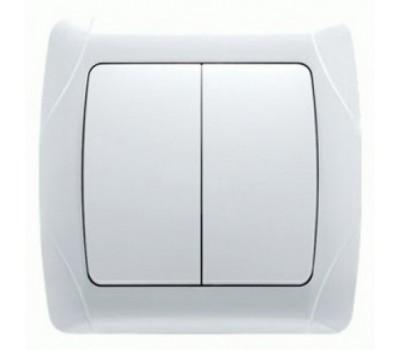 Выключатель VIKO двойной внутр. белый 1002