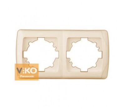 Рамка VIKO 2-я крем 1102 Carmen гориз.