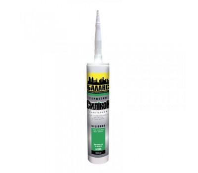 Герметик силиконовый санитарный белый Баланс 300мл