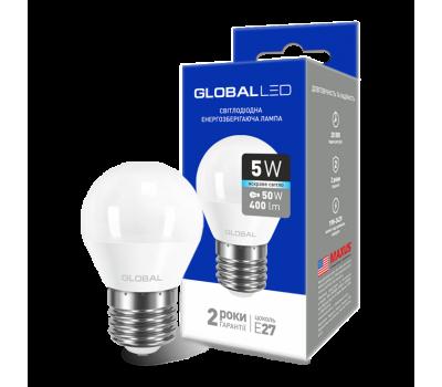 Лампа Global LED G45 F 5W 4100K 220V E27 AP