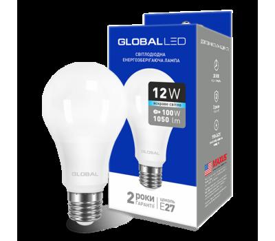 Лампа Global LED A60 12W 4100K 220V E27 AL