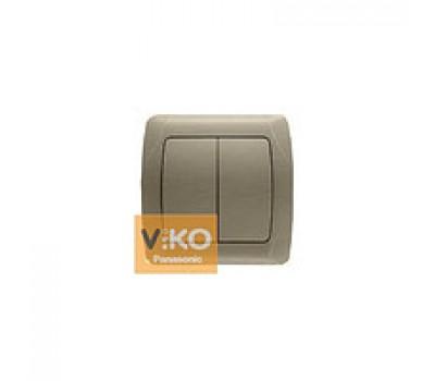 Выключатель VIKO двойной внутр. бронза