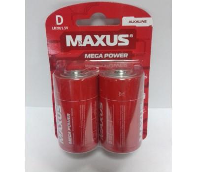 Батарейка щел. MAXUS D/LR20 1.5V