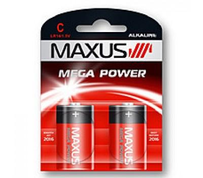 Батарейка щел. MAXUS C/LR14 1.5V