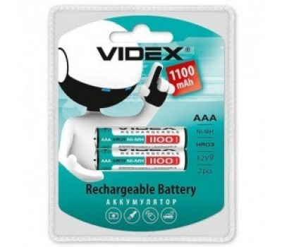 Батарейка акк. videx ААА 1100mAh 1 шт.