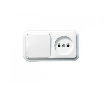 Блок 1-кл. выключатель + розетка б зз